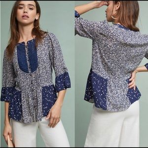 Anthropologie Maeve Hiver Blouse